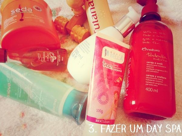 Dia de spa em casa nas férias