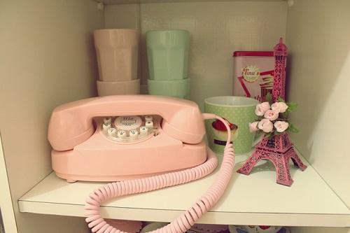decorando com telefone retrô