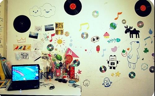 discos, desenhos e cds