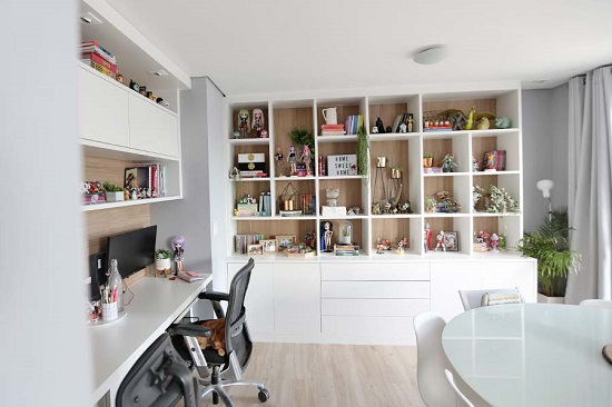Sala de estar e home office - Lia Camargo