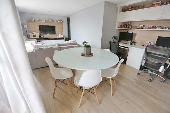 Sala de estar e home office - Lia Camargo
