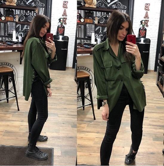 Como usar look estilo militar