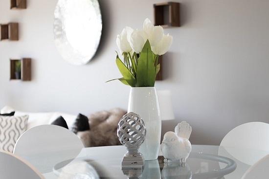 O branco como destaque da decoração