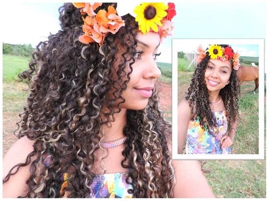 Como usar flores nos cabelos